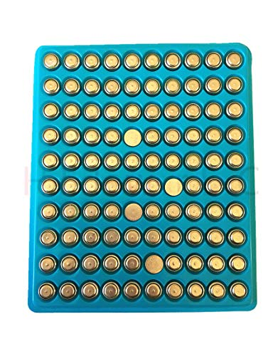 New 100 X AG3 LR41 392 Button Cell Battery in Tray in Ywhome