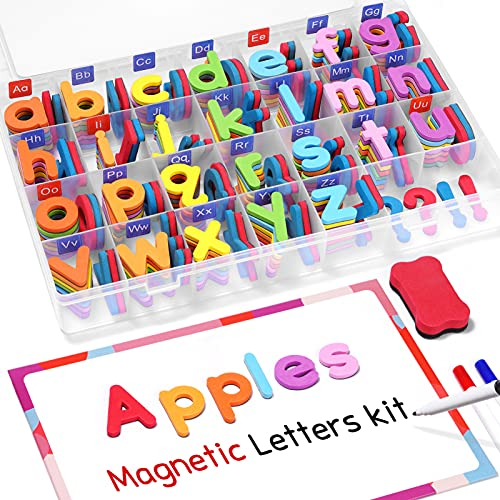 Gamenote Classroom Magnetic Alphabet Letters Kit 234 Pcs with Double - Side...