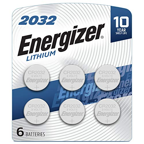 Energizer CR2032 Batteries, 3V Lithium Coin Cell 2032 Watch Battery, (6...