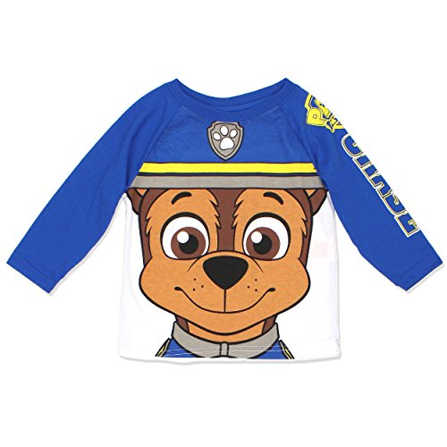 Paw Patrol Marshall Chase Toddler Boys and Girls Tee Shirt (5T, Chase LS)