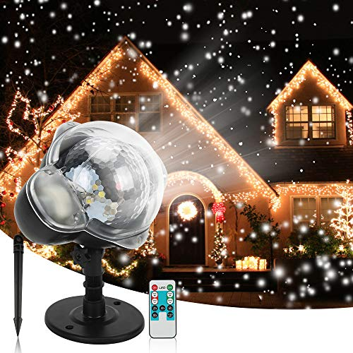 Christmas Snowfall Projector Lights, Syslux Indoor Outdoor Holiday Lights...
