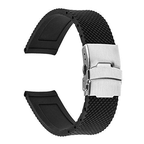 TRUMiRR 22mm Silicone Rubber Watch Band Strap for Samsung Gear S3 Classic...