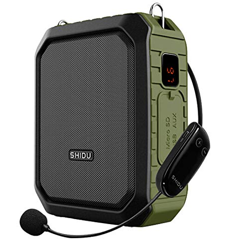 Wireless Voice Amplifier with Headset Microphone 18W Portable Mic-Speaking...