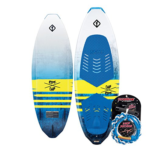CWB Connelly Ride Wakesurf Board Package, Proline Surf Rope, 62'