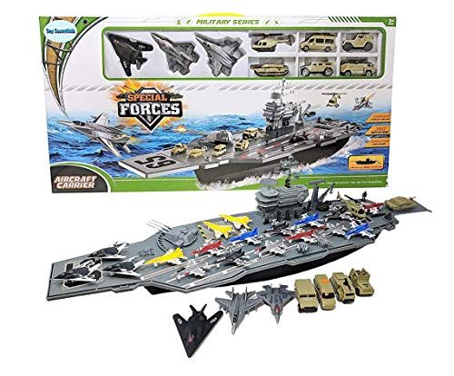 Toy Essentials 33 Inch Aircraft Carrier with Soldiers Jets Military...