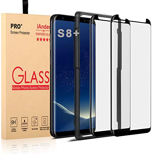 [2-PACK] Galaxy S8 Plus Screen Protector Glass [Easy Installation Tray],...
