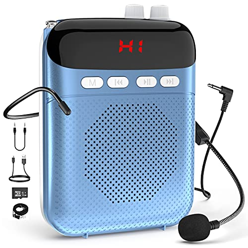 Voice Amplifier Portable Rechargeable PA System Speaker with LED...