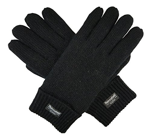 Bruceriver Men Pure Wool Knitted Gloves with Thinsulate Lining Size L/XL...