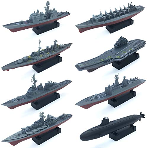 8 Sets 3D-Puzzle Model Battleship Aircraft Carrier Toy Submarine, Plastic...