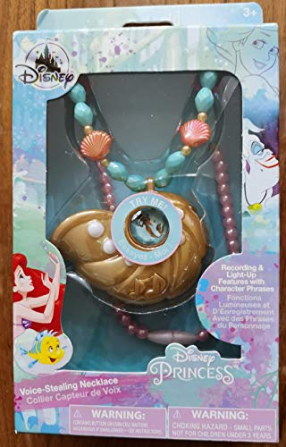 Princess Ariel Voice-Stealing Necklace for Kids - Recording & Light-up...