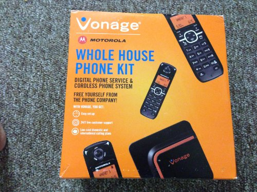 Vonage Phone Solution Adapter + Cordless Phone System, New for 2011 Vonage...