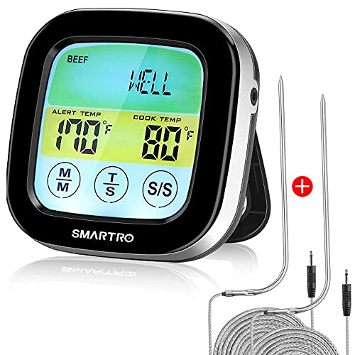 SMARTRO ST59 Digital Meat Thermometer for Cooking Oven BBQ Grill Kitchen...