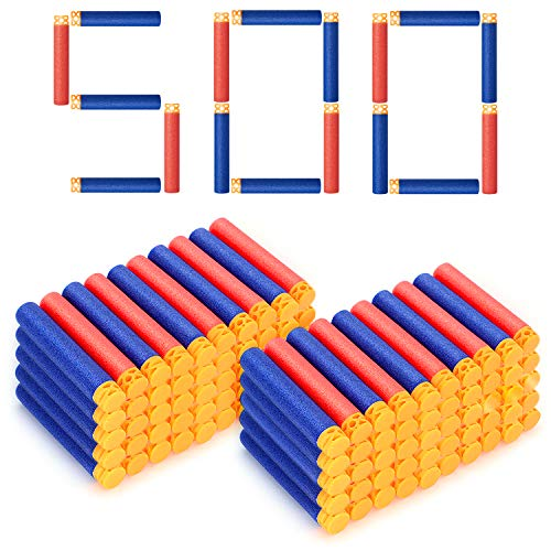 Forliver Refill Darts, 500 Pack Refill Bullets Compatible with Nerf Guns...