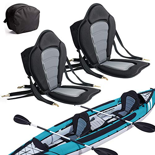 2 Pack of Kayak Seat Deluxe Padded Canoe Backrest Seat Sit On Top Cushioned...
