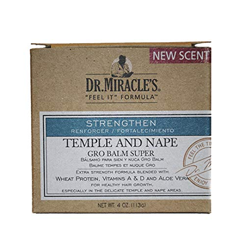 Dr. Miracle's Temple and Nape Gro Balm - For Healthy Hair Growth, Contains...