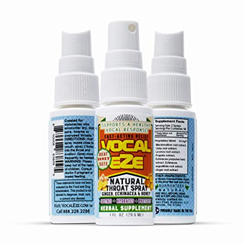 Vocal Eze Throat Spray   Relieve Sore, Hoarse, Fatigue, Dryness of Throat  ...