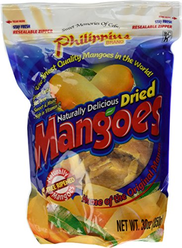 Philippine Brand Naturally Delicious Dried Mangoes Tree Ripened 30 Ounces -...