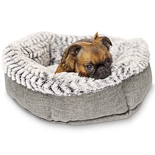 Soho Round Dog Bed for Small Dogs and Puppies - Also a Cat Bed For Indoor...
