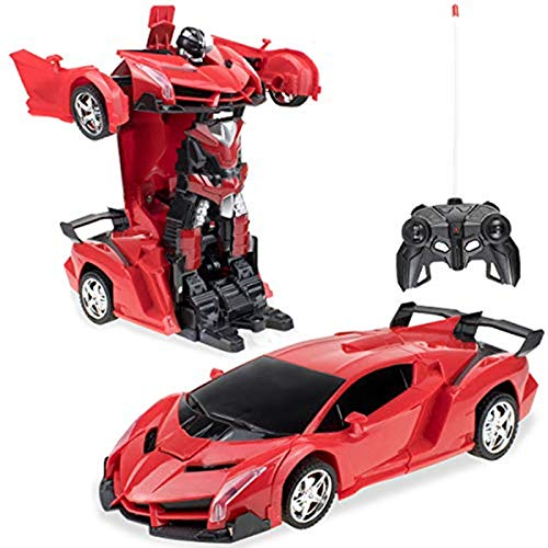 Samate Deformation Robot Car Toy for Kids, Electric Car Model with Remote...