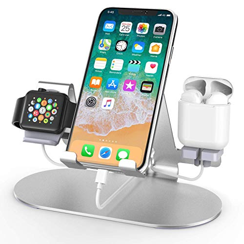 3 in 1 Aluminum Charging Station for Apple Watch Charger Stand Dock for...