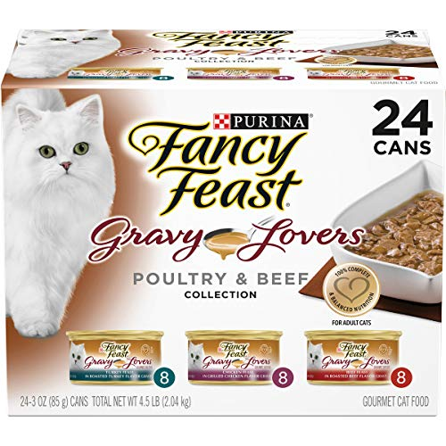 Purina Fancy Feast Gravy Wet Cat Food Variety Pack, Gravy Lovers Poultry &...