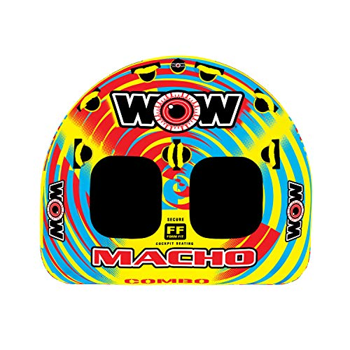 WOW World of Watersports Macho Multiple Riding Positions Tube 1 or 2 Person...