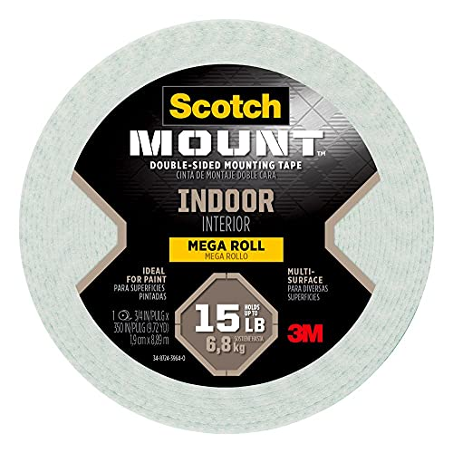 Scotch-Mount Indoor Double-Sided Mounting Tape Mega Roll 110H-Long-DC, 3/4...