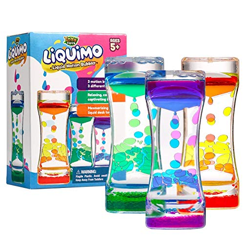 YoYa Toys Liquimo - Liquid Motion Bubbler for Kids and Adults (3-Pack) -...
