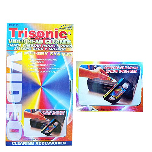 VHS VCR VIDEO HEAD CLEANER PLAYERS RECORDERS WET DRY SYSTEM CLEANING LIQUID...