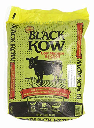 Black Kow Composted Cow Manure 4 lb. Size (1 Bag)
