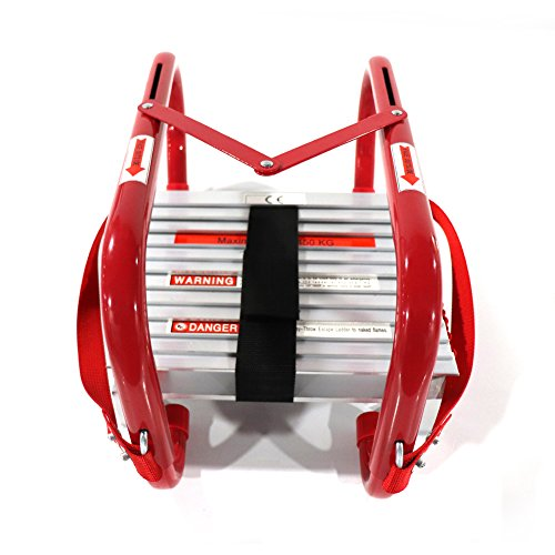 Fire Escape Ladder, 2 Story Emergency Portable Safety Reusable Ladder for...