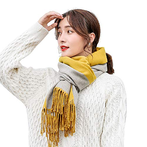 HIOD Winter Cashmere Women Scarf British Style Double-Sided Two Color...