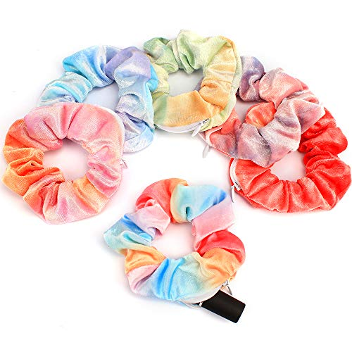 Aprince 6pcs scrunchies for hair scrunchies velvet scrunchies with pockets...