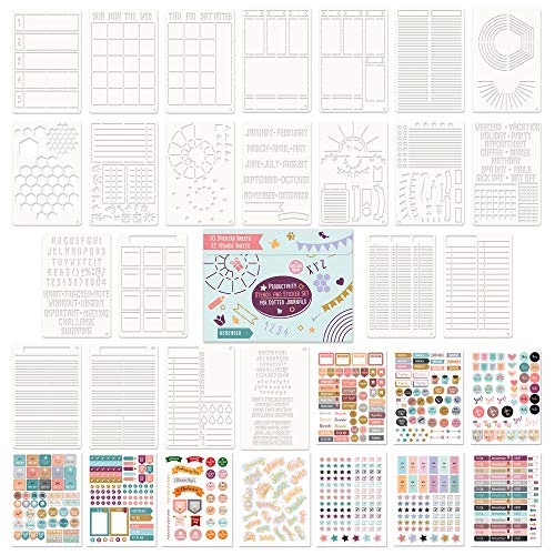 Ultimate Productivity Stencils and Planner Stickers for Journaling - Time...