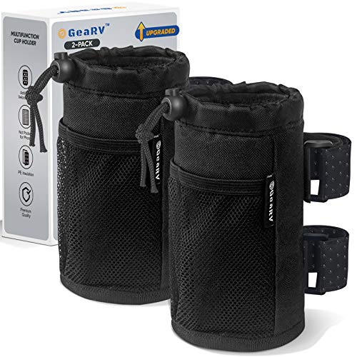 GEARV 2Pack Cup Holder for Bike, Scooter and Wheelchair, Water Bottle...