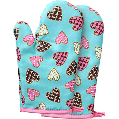 RISEBRITE Real Kids Oven Mitts Heat Resistant for Cooking, Baking and...