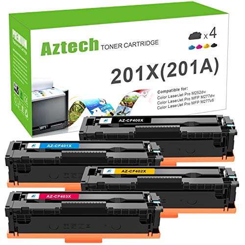 Aztech Compatible Toner Cartridge Replacement for HP 201X 201A CF400X...