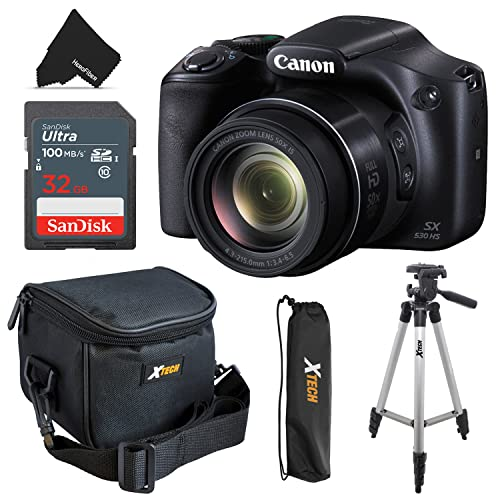 Canon Powershot SX530 HS 16.0 MP Digital Camera with 50x Zoom, Wi-Fi &...