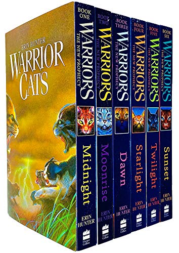 Warrior Cats Series 2: The New Prophecy by Erin Hunter 6 Books Set...