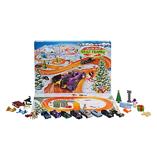 Hot Wheels 2021 Advent Calendar with 24 Surprises That Include 8 1:64 Scale...