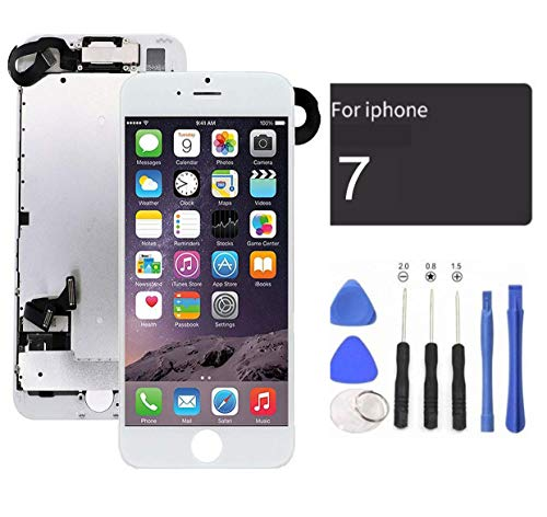passionTR White LCD Screen Replacement for iPhone 7 Plus 5.5 Inch with...