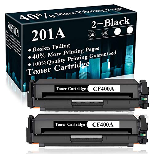 2 Pack 201A   CF400A Toner Cartridge Replacement for HP Color Laserjet Pro...