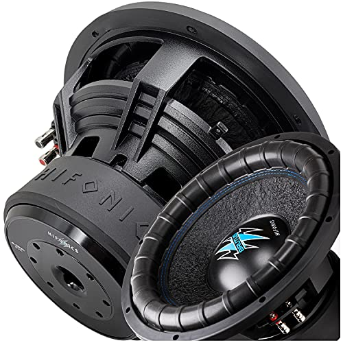 Hifonics BRW12D4 2000 Watts 12 Inch Brutus Car Audio Subwoofer with Heavy...