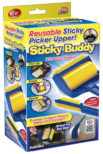 Sticky Buddy Reusable Sticky Picker Cleaner Lint Roller Pet Hair Remover...