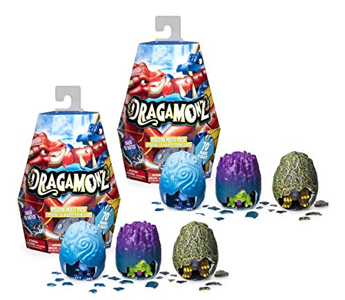 Dragamonz, Set of 2 Dragon Multi 3-Pack, Collectible Figure and Trading...
