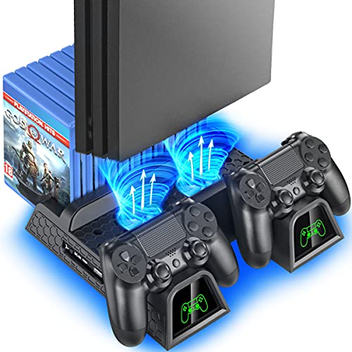 PS4 Stand Cooling Fan Station for Playstation 4/PS4 Slim/PS4 Pro, OIVO PS4...
