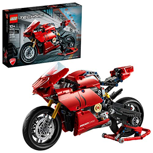 LEGO Technic Ducati Panigale V4 R 42107 Motorcycle Toy Building Kit, Build...