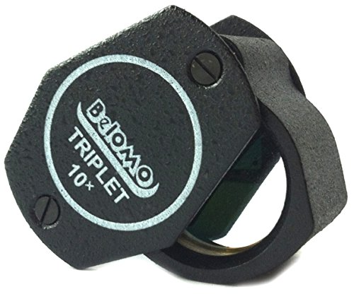 BelOMO 10x Triplet. Jewelers Loupe Magnifier 21mm (.85'). Optical Glass...