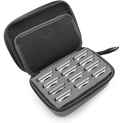 CASEMATIX Hair Clipper Guard Blade Holder Case for Barbers and Stylist...