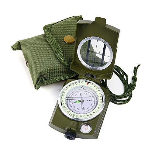 Sportneer Military Lensatic Sighting Compass with Carrying Bag, Waterproof...
